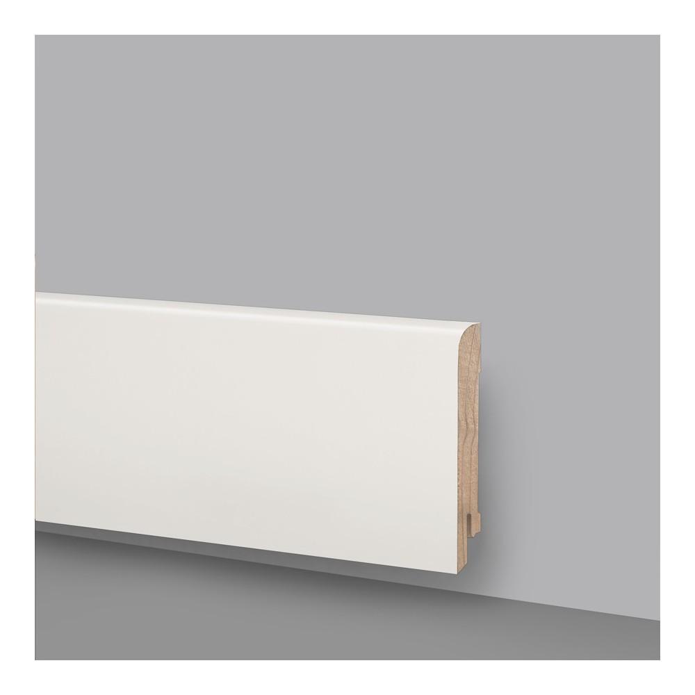 Battiscopa legno laccato bianco ral 9010 art 6243 for Legno laccato