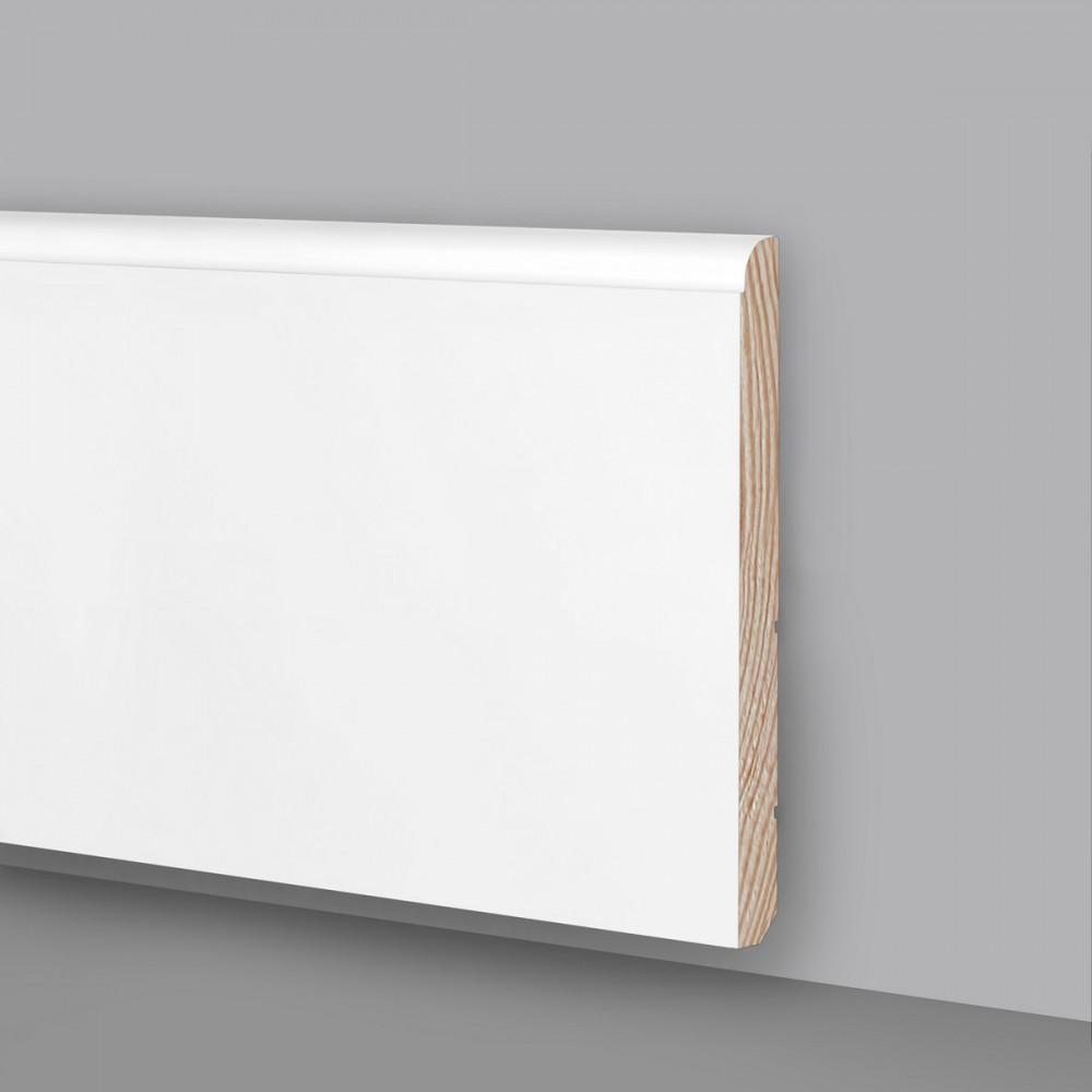 Battiscopa legno laccato bianco Ral9003 MA6929