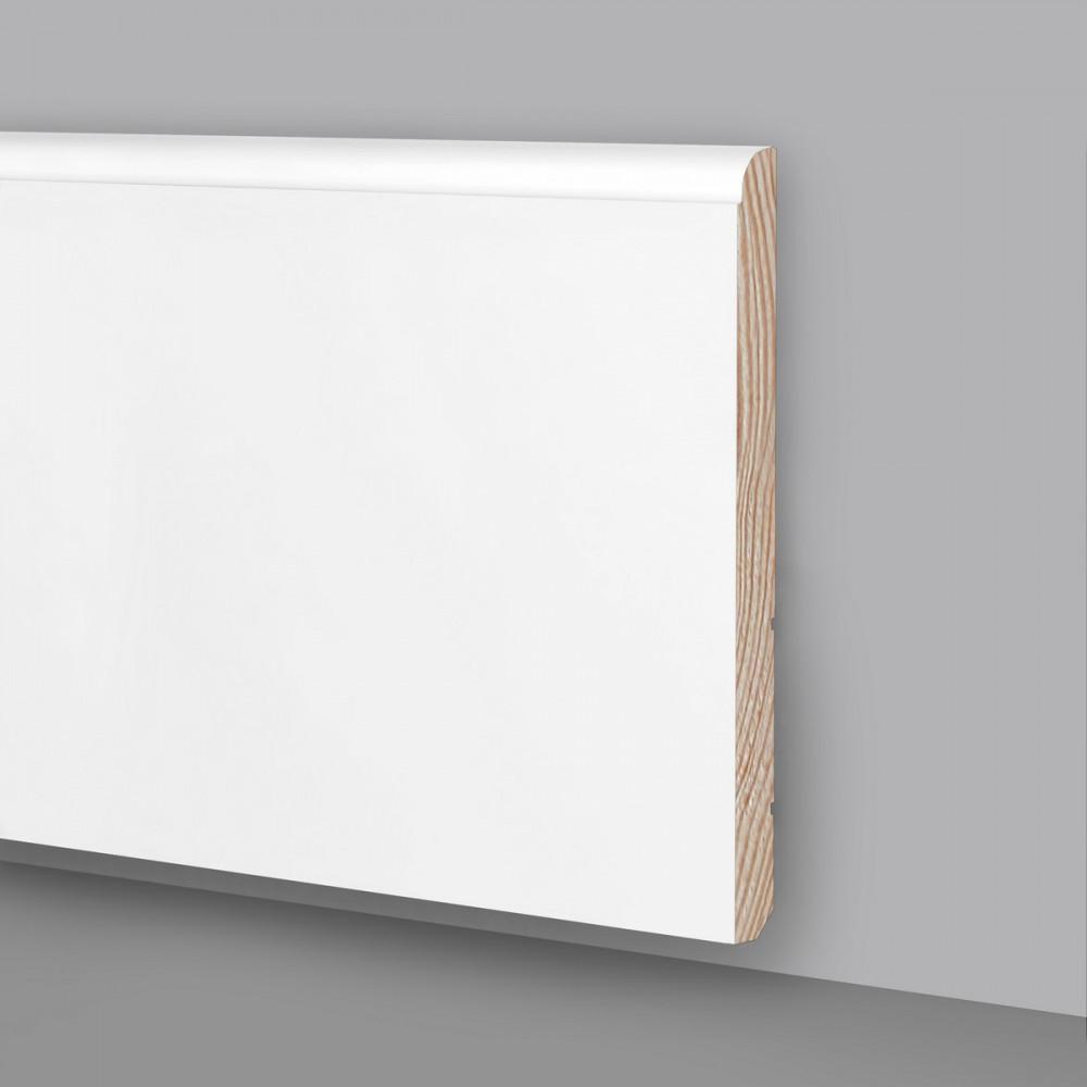 Battiscopa legno laccato bianco Ral9003 MA6930