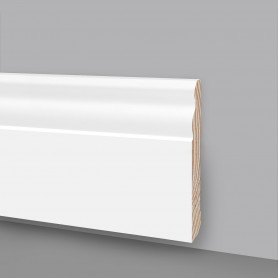 Battiscopa legno laccato bianco MA7046
