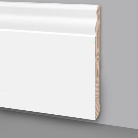 Battiscopa legno laccato bianco Ral9003 MA7048
