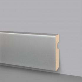 Battiscopa MDF alluminio satinato 133-A50
