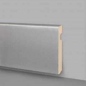 Battiscopa MDF riv. alluminio satinato 136-A50