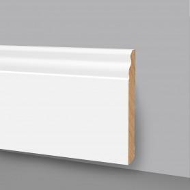 10 Aste da 2,4 m di Battiscopa in legno Laccato Bianco 6737LB