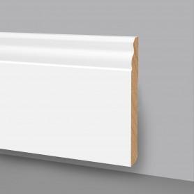5 Aste da 2,4 m di Battiscopa in legno laccato bianco 6738LB