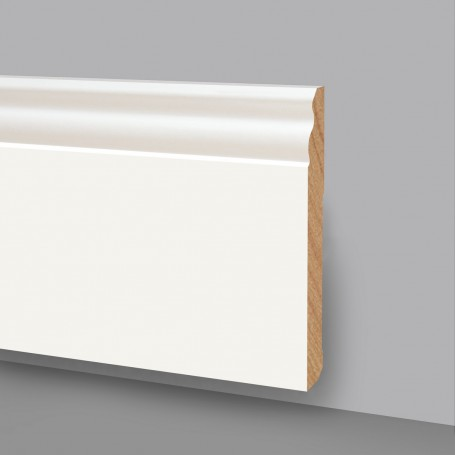 10 Aste da 2,4 m di Battiscopa in legno laccato bianco 6738LB