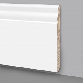 31 Aste da 2,4 m di Battiscopa in legno laccato bianco MA7047
