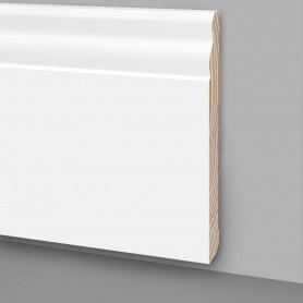 15 Aste da 2,4 m di Battiscopa in legno laccato bianco MA7048